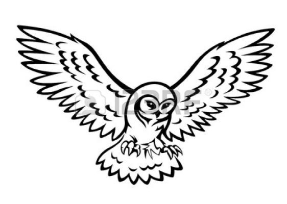 562x400 Flying Owl Silhouette Simple Owls Owl Silhouette, Owl Vector