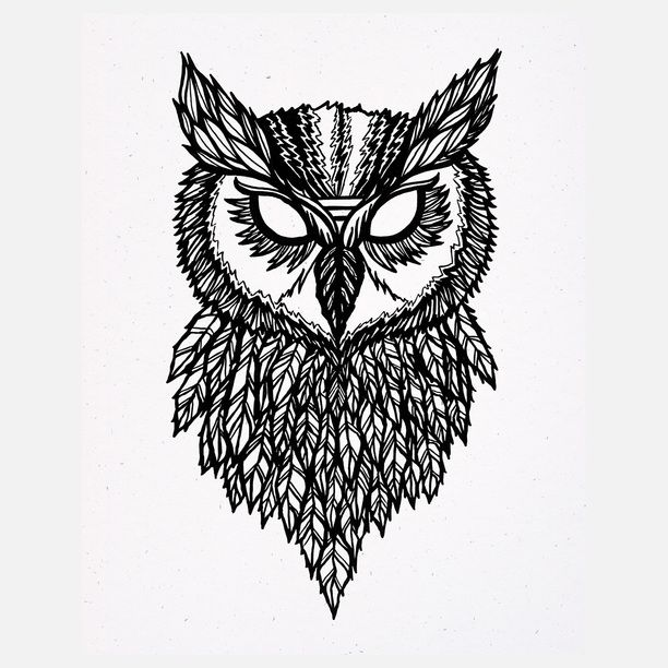 612x612 Great Horned Owl Tattoo Hairrs Us