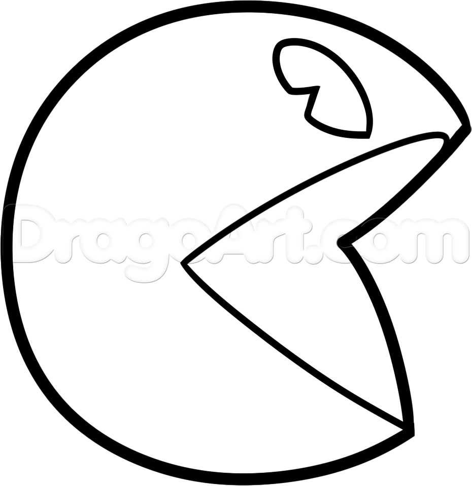 Pacman Ghost Drawing
