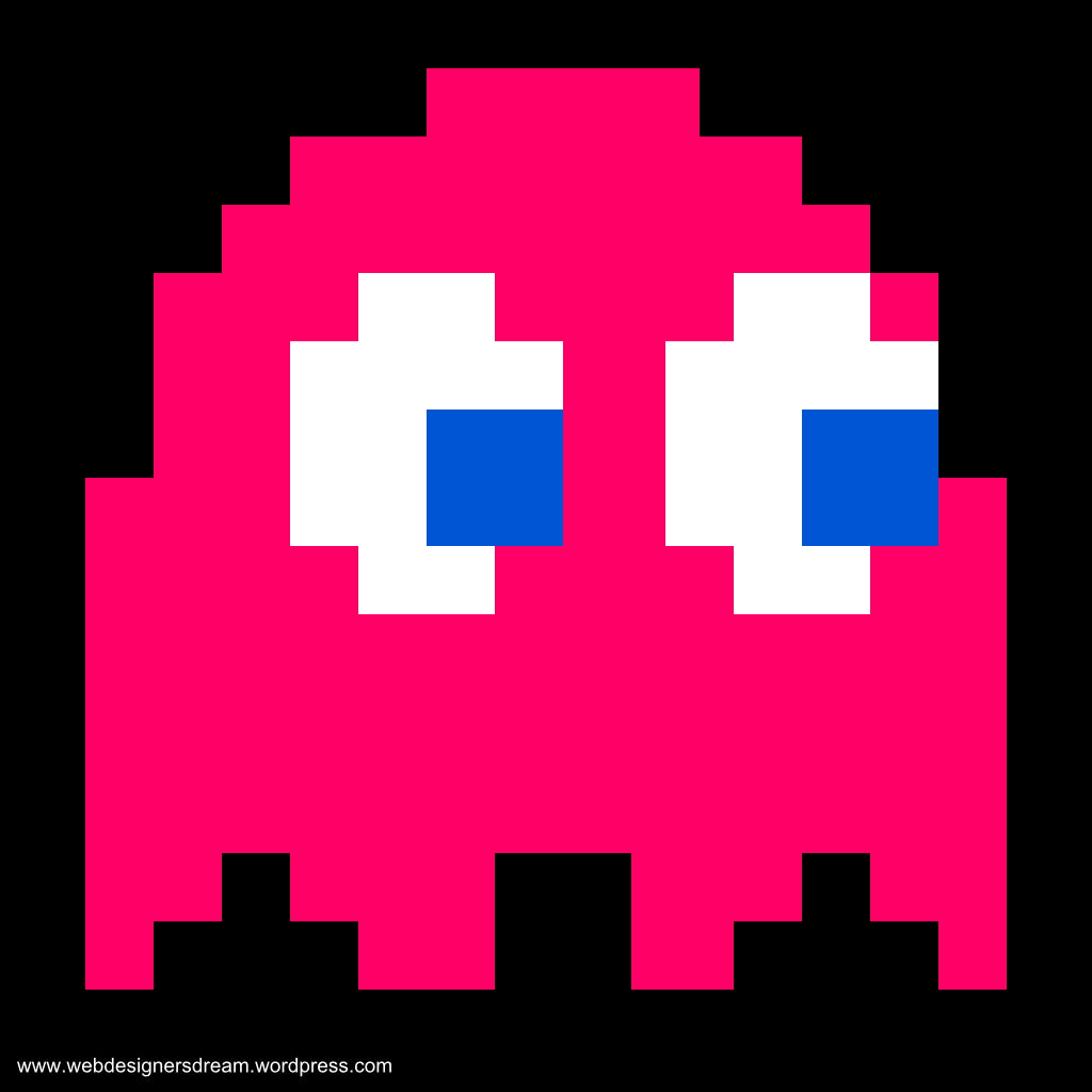 1024x1024 Drawn Ghost Pac Man