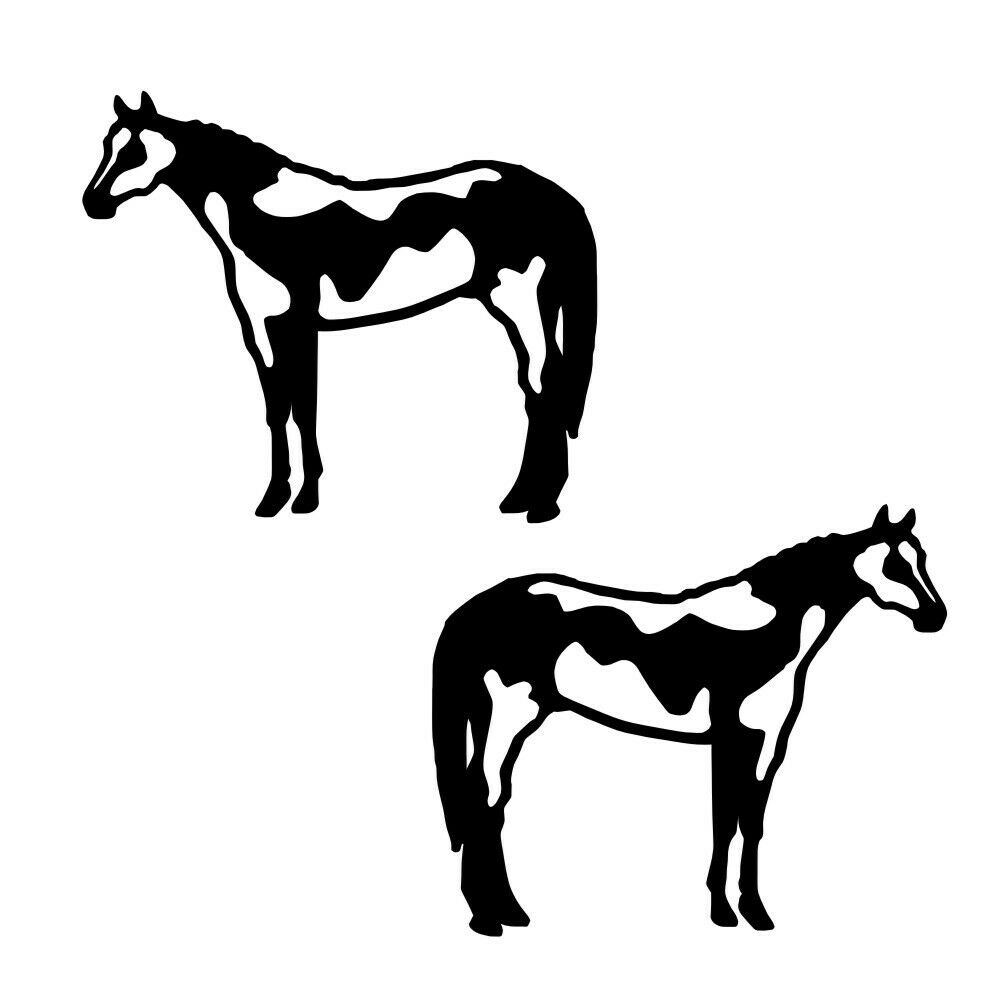 1000x1000 Reflective Pair Decal American Paint Horse For Tack Box Truck