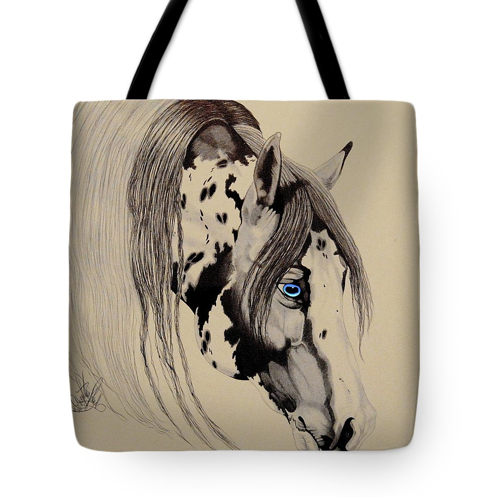 1000x1000 American Paint Reining Horse Tote Bag For Sale
