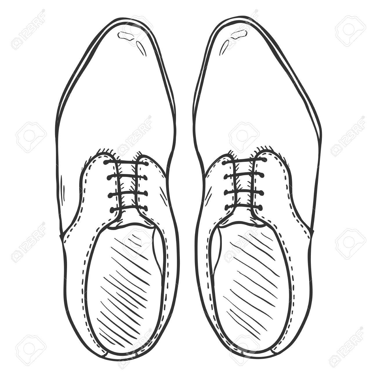 1300x1300 Pair Of Shoes Drawing