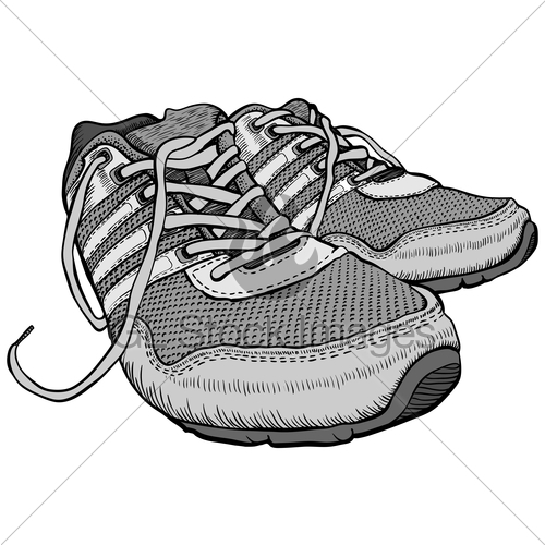 500x500 Pair Of Sneakers Gl Stock Images