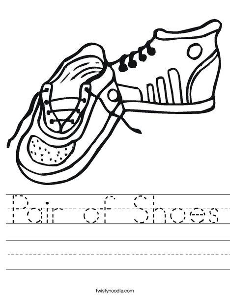 468x605 Pair Of Shoes Worksheet