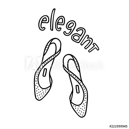 500x500 Pair Of Lady's Shoes With A Handwritten Word Elegant