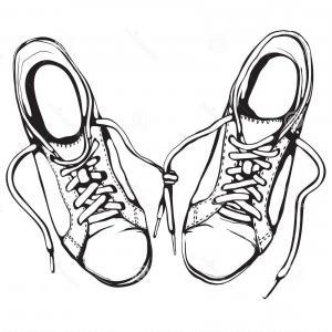 300x300 Stock Illustration Pair Of Running Shoes Orangiausa