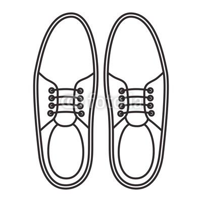 400x400 Elegant Masculine Pair Shoes Vector Illustration Design Buy
