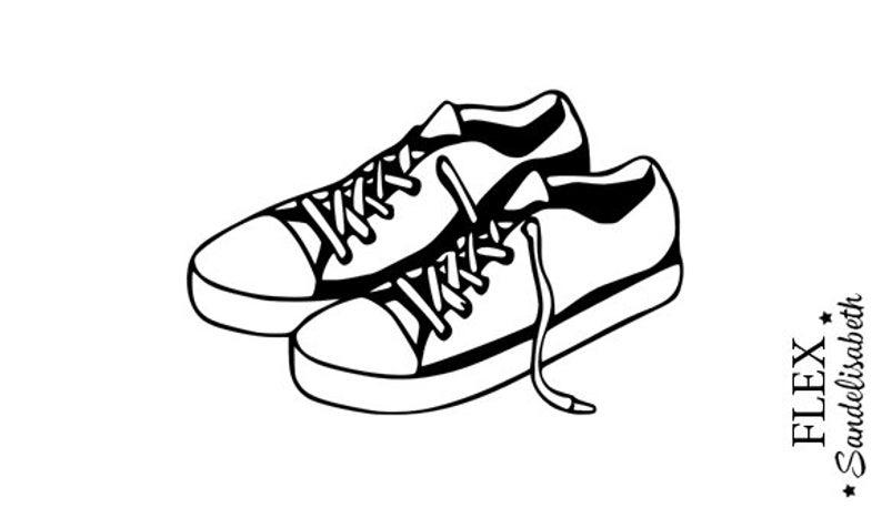 794x467 Applied Fusible Sneakers Tennis Shoes Pair Flex Etsy