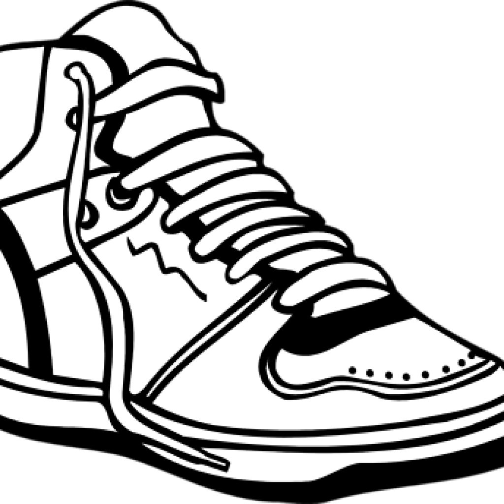 1024x1024 Collection Of Free Sneakers Drawing Pair Shoe Download On Ui Ex