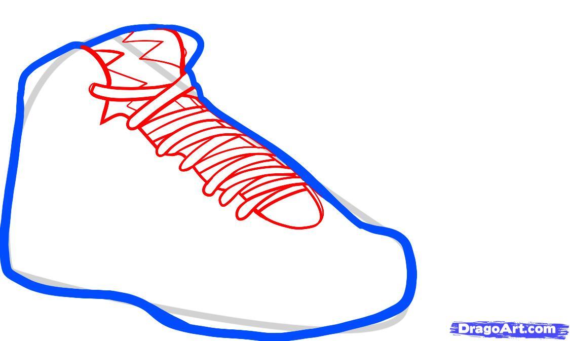 1125x673 Draw Air Jordan Bordeaux, Air Jordans, Step
