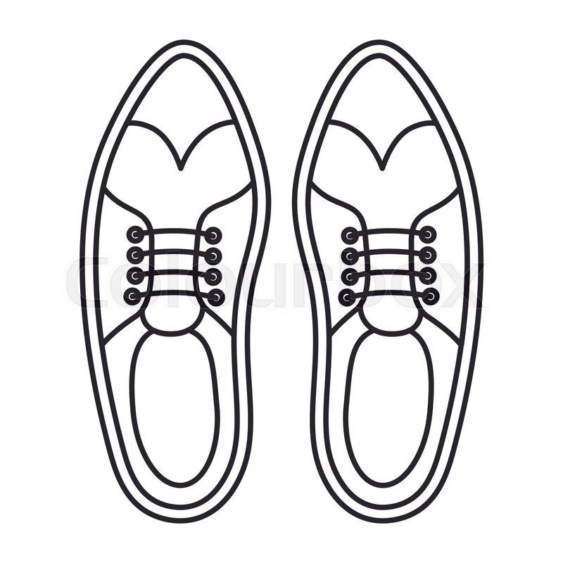 800x800 Elegant Masculine Pair Shoes Vector Stock Vector Colourbox