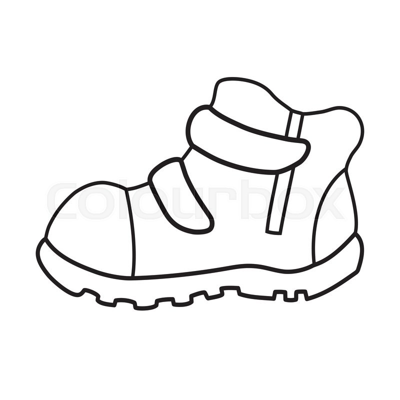 800x800 Hand Drawn Pair Of Kids Shoes It Can Stock Vector Colourbox