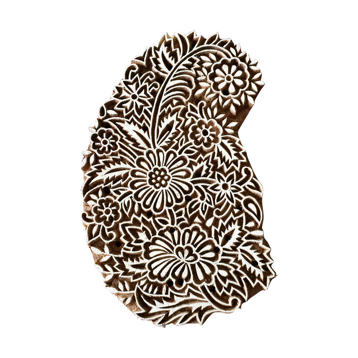 1200x1200 flower paisley stamp indian wood stamp wood block stamp block etsy