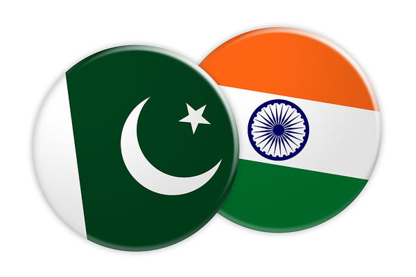 600x400 news concept pakistan flag button on india flag button