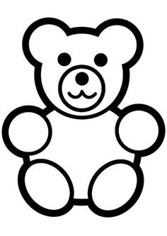 Panda Bear Line Drawing