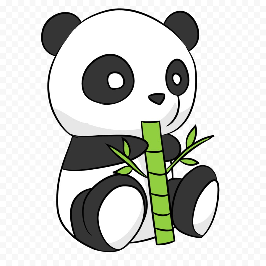 900x900 Cute Panda Drawings Easy Draw A Clipart Cool Cartoon Pencil