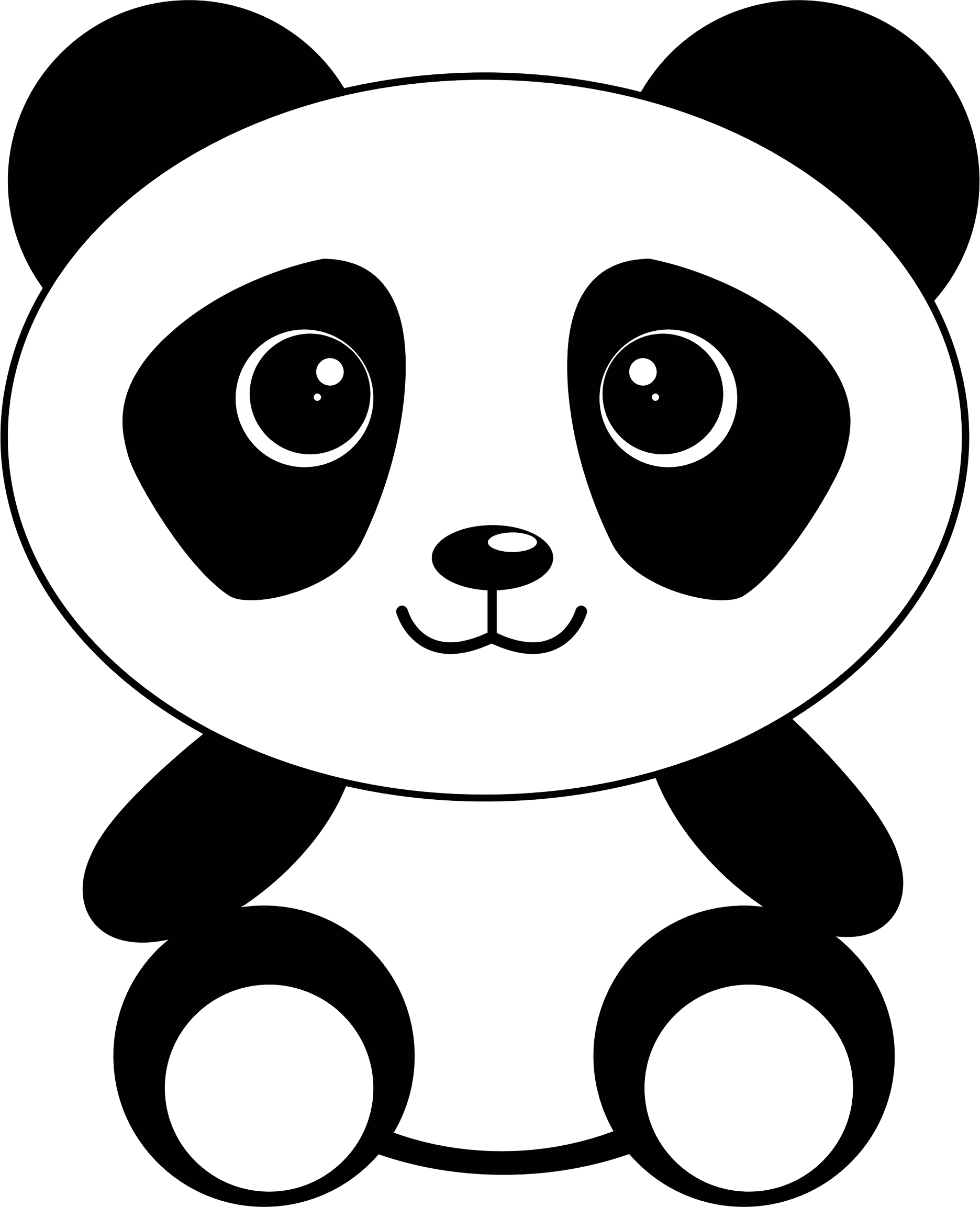 1872x2306 Drawing Pandas Cute Transparent Png Clipart Free Download