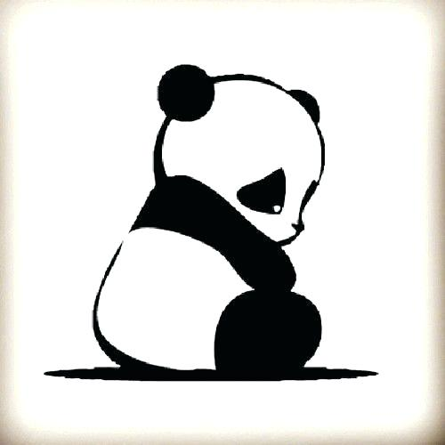 500x500 How To Draw An Easy Panda Easy To Draw Panda Bear Pictures