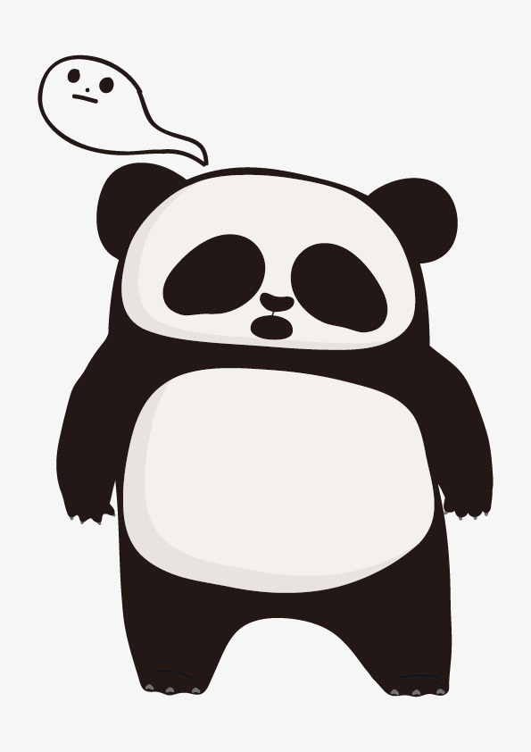 595x842 Panda Cartoon Drawing Element Free Download, Panda Clipart