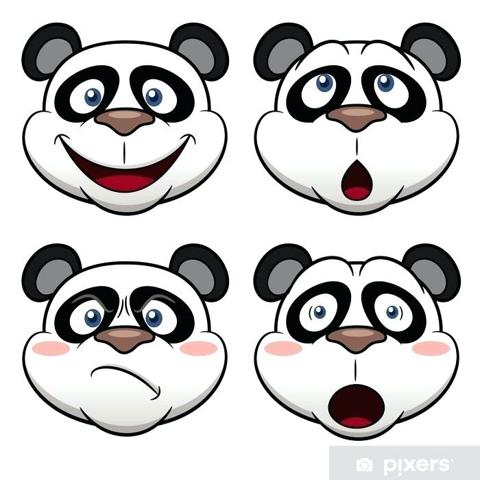 700x700 Panda Face Cartoon