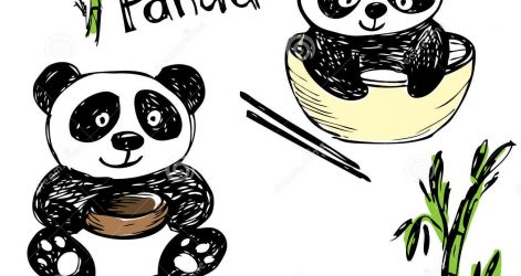 471x250 Cartoon Drawings Of Pandas Cute And Easy With Glasses Line Cool