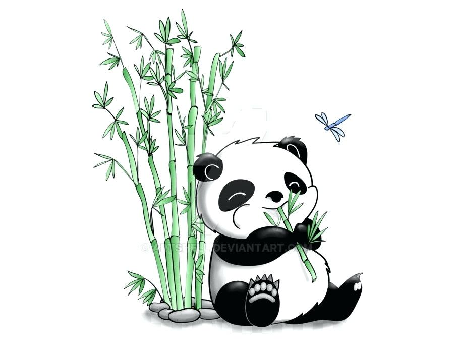 900x700 Cartoon Giant Panda Giant Panda Cartoon Character