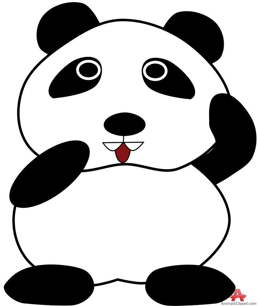 844x999 Collection Of Free Panda Clipart Cartoon Character Amusement