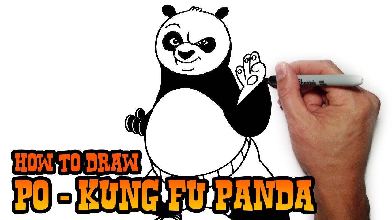 1280x720 How To Draw Po Kung Fu Panda Step