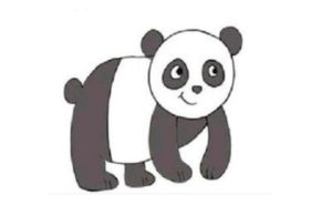 300x194 Lovely Panda How To Draw A Panda In Easy Step