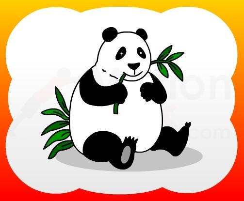 503x415 Panda Drawing For Kids