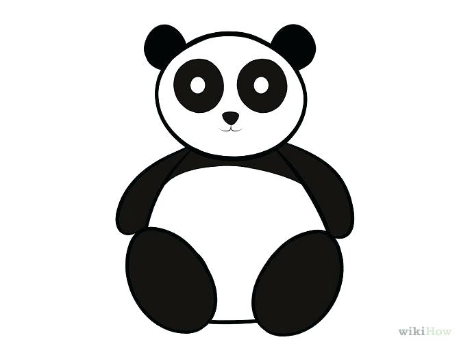670x503 How To Draw A Panda For Kids Running