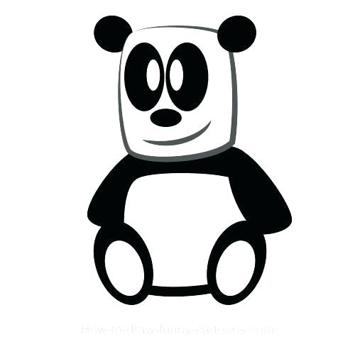 500x492 How To Draw Panda Face Nip