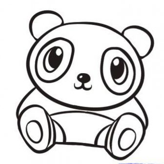 336x336 Cute And Easy Drawings Of Pandas Red Pencil Step Baby Animals