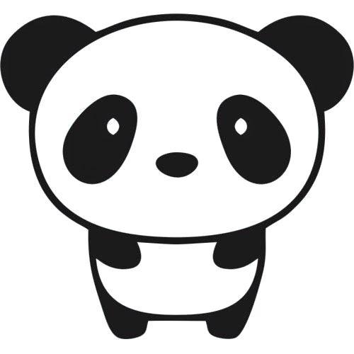 500x500 Drawing Of Pandas Easy Draw Panda Bear Step