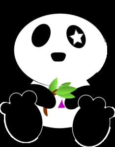 234x300 Cosmic Panda Eating Bamboo Again Clip Art