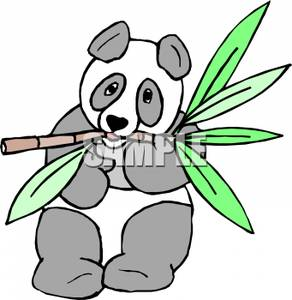 292x300 Panda Bamboo Clipart Picture A Clipart