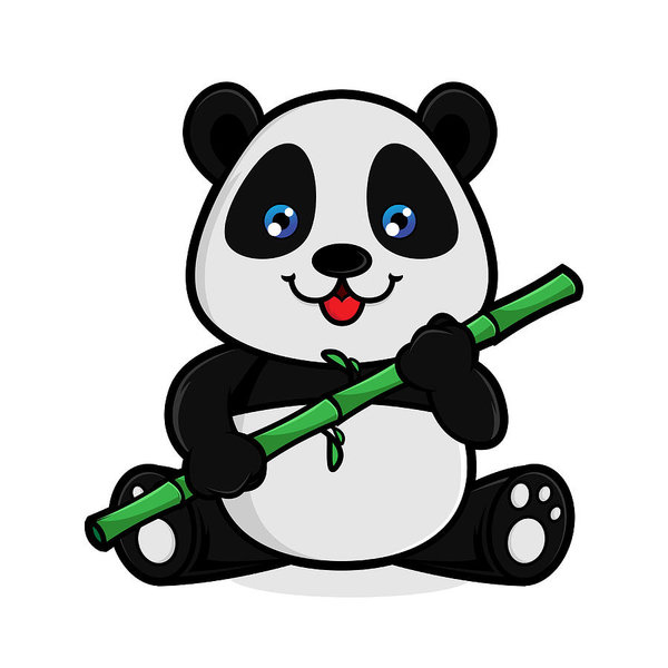 600x600 Panda Eat Bamboo Art Print
