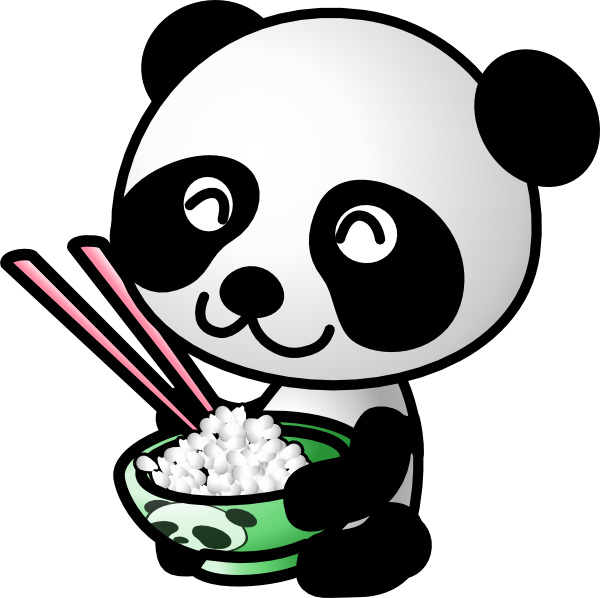 600x598 Panda Eating Bamboo Clip Art