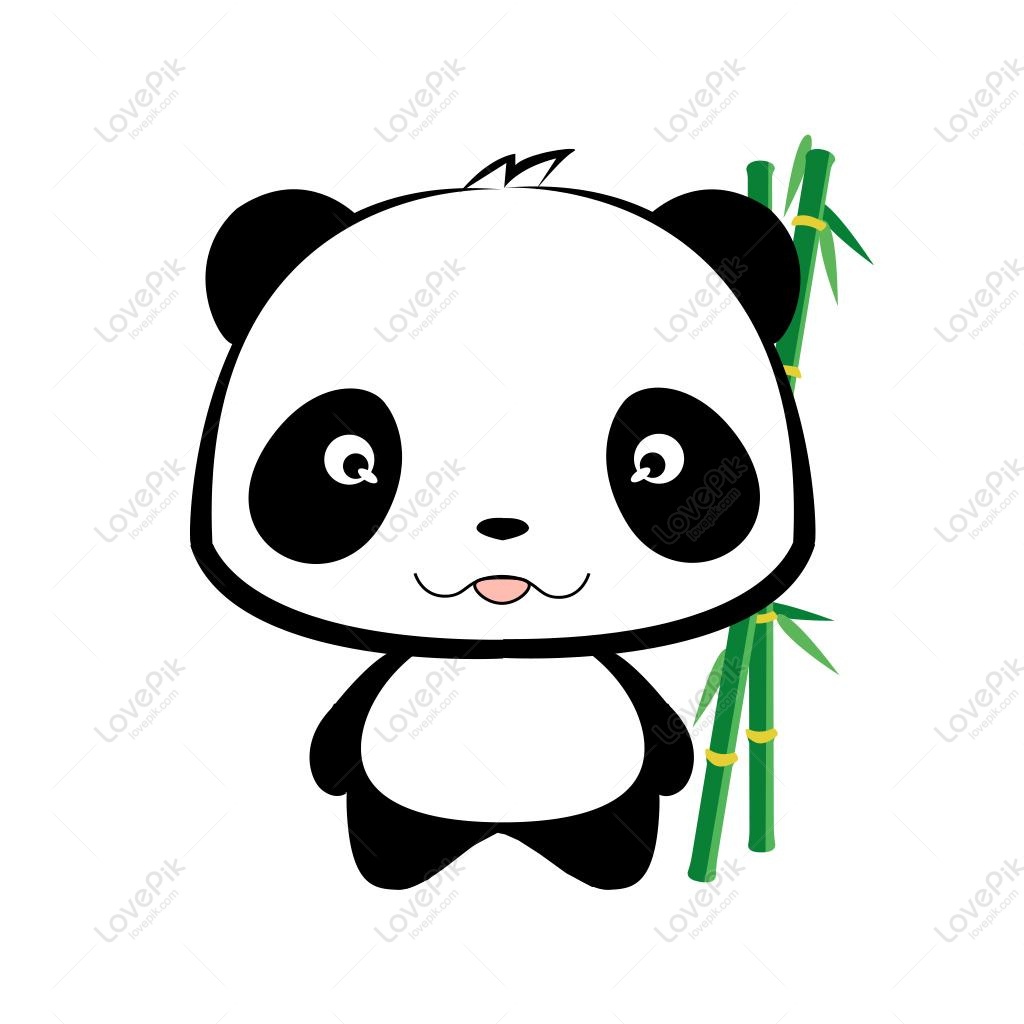 1024x1024 Panda Eating Bamboo Map Illustration Image Picture Free Download