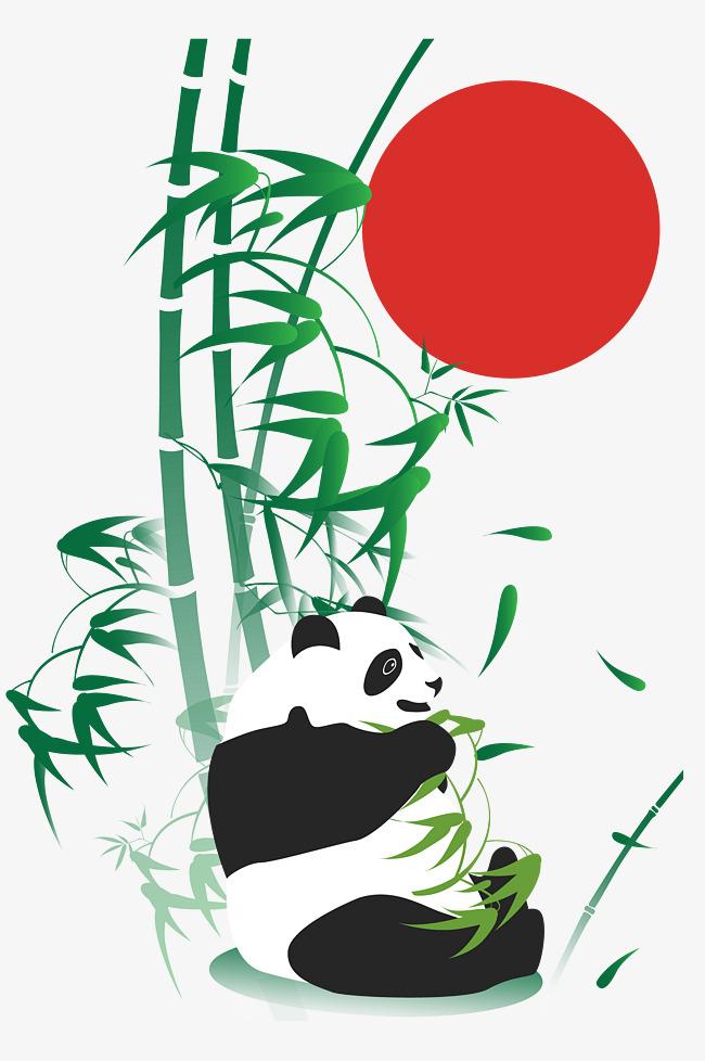 650x978 pandas eat bamboo, panda, red sun, bamboo png and vector for free
