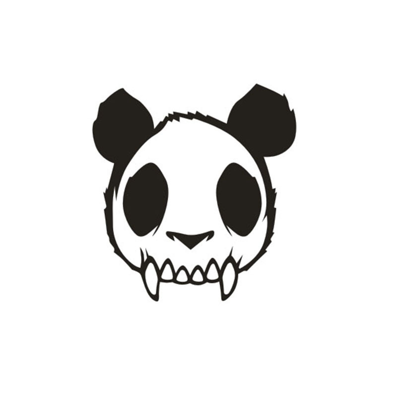 800x800 Huge Collection Of 'panda Skull Drawing' Download More Than