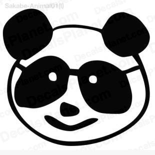 310x310 panda head drawing decal, vinyl decal sticker, wall decal