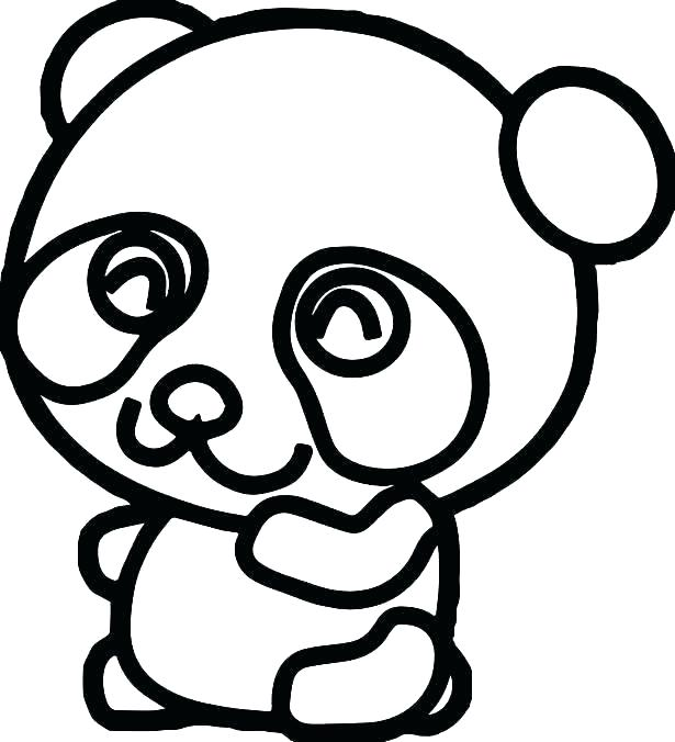 615x676 Coloring Pages Draw A Cartoon Panda