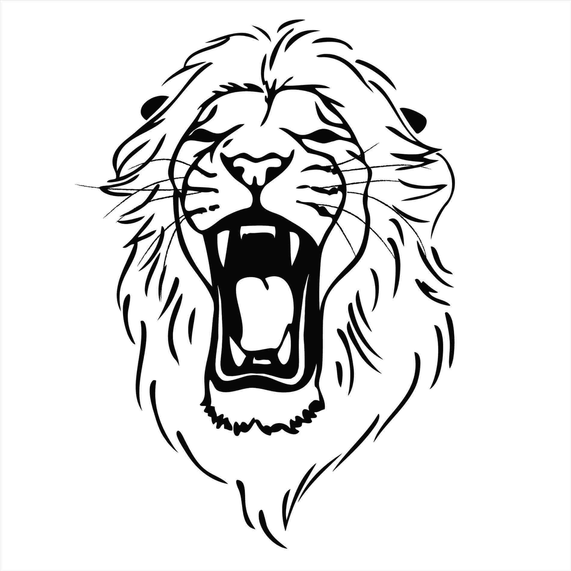 1900x1900 Lion Lions Head Roaring Drawing Roaring Drawing