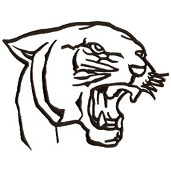 250x250 Panther Outline Designs For Embroidery Machines