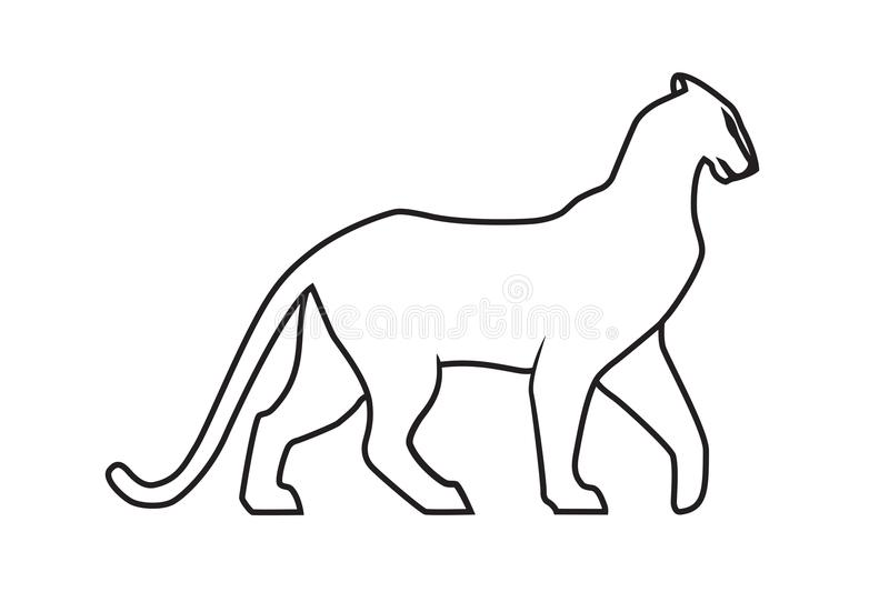 800x533 Panther Clipart Panther Outline Frames Illustrations Hd