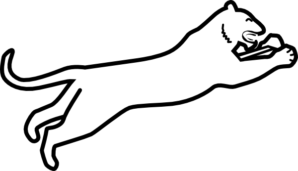 600x346 Panthers Outline Logo Png Images