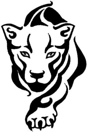 280x425 Stalking Panther Embroidery Design Inspiring Art