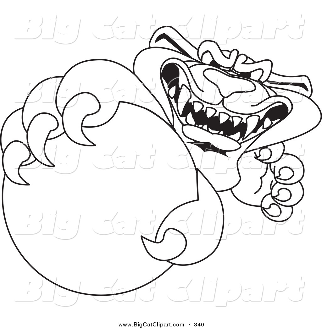 1024x1044 Big Cat Cartoon Vector Clipart Of A Coloring